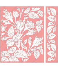 Cuttlebug A2 Embossing Folder/Border Set- Mayfair Floral By Anna Griffin