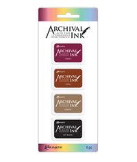 Mini Archival Ink Kits - Plum, Sepia, Coffee, Jet Black
