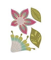Cheery Lynn Designs- Bohemian Collection - Mehndi Botanicals 4 - 4 Die Set