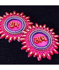 Designer  Acrylic Subh - Labh (Assorted colors)