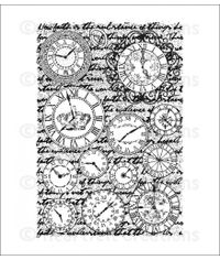 Heartfelt Creations - Numeral Clocks Cling Stamp Set