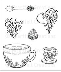Heartfelt Creations Cling Rubber Stamp Set Coffee Talk Cling Stamp Set
