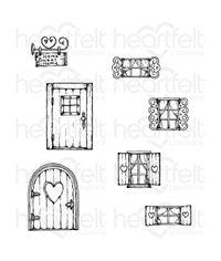 Heartfelt Creations - Wildwood Cottage Cling Stamp Set