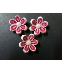 Handmade Quilled Flower - Multi Color - Pink - Small