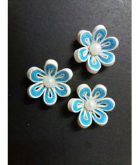 Handmade Quilled Flower - Multi Color - Blue - Small