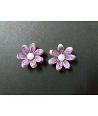 Handmade Quilled Flower - Single Color - Light Purple - Small