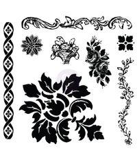 Iron Orchid Designs Decor Clear Stamps - Fleur