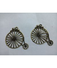 Traditional Bicycle Charms 52*45*3mm (2 pcs)