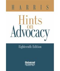 Hints on Advocacy, 18th Edn., (Indian Economy Reprint)