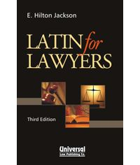 Latin for Lawyers, 3rd Edn., (Third Indian Reprint)