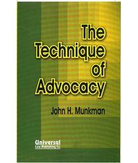 Technique of Advocacy, (Indian Economy Reprint)