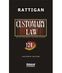 Customary Law, 16th Edn (133rd year of Publication) (Reprint)