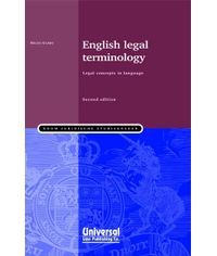 English Legal Terminology - legal concepts in language, 2nd Edn., (First Indian Reprint)