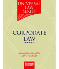 Corporate Law (An essential revision aid for Law Students), 2nd Edn. 2010 (Reprint)