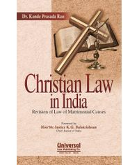 Christian Law in India - Revision of Law of Matrimonial Causes