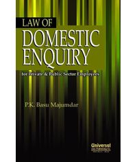 Law of Domestic Enquiry for Private & Public Sector Employees