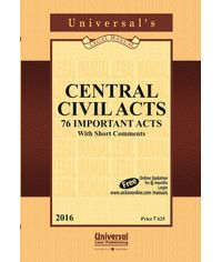 Central Civil Acts (76 Important Acts) with Short Comments