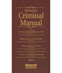 Criminal Manual (Cr.P.C., I.P.C. & Evidence) (Deluxe Bound) [with FREE Guide to Criminal Pleadings (Model Forms)]
