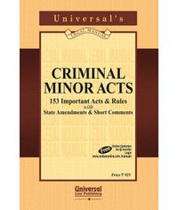 Criminal Minor Acts - 153 Important Acts & Rules with State Amendments & Short Comments
