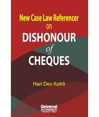 New Case Law Referencer on Dishonour of Cheques, 2nd Edn.