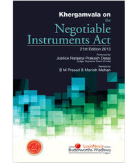 Khergamvala On The Negotiable Instruments Act