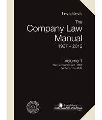 The Company Law Manual (1927-2012) (Set of 2 Vols.)