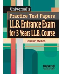Practice Test Papers LL.B. Entrance Exam for 3 Years LL.B. Course