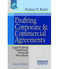 Drafting Corporate and Commercial Agreements (Legal Drafting, Guidelines, Form & Precedents) (With Free CD), 2nd Edn. 2011 (Reprint)