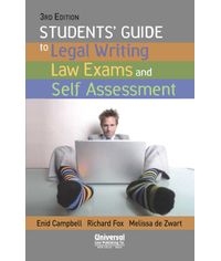 Students' Guide to Legal Writing Law Exams and Self Assessment, 3rd Edn. (First Indian Reprint)
