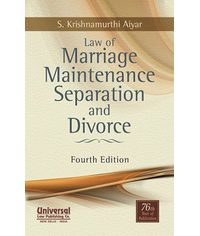 Law of Marriage Maintenance Separation and Divorce, 4th Edn.