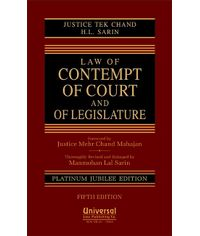 Law of Contempt of Court and of Legislature, 5th Edn.
