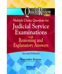Multiple Choice questions for Judicial Service Examinations with Reasoning and Explanatory Answers, 2nd Edn.