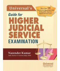 Guide for Higher Judicial Service Examination, 3rd Edn. 2013 (Reprint)