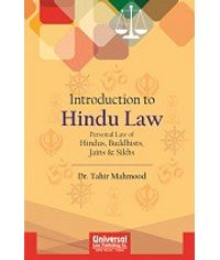 Introduction to Hindu Law  Personal Law of Hindus, Buddhists, Jains & Sikhs