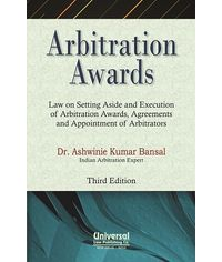 Arbitration Awards  Law on Setting Aside and Execution of Arbitration Awards, Agreements and Appointment of Arbitration, 3rd Edh.