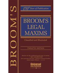 Legal Maxims, 12th Edn.