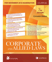 Corporate and Allied Laws [FOR CA FINAL] (For Nov 2016 Examination)