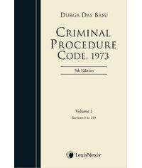 CRIMINAL PROCEDURE CODE, 1973 (Set of 2 Vols.)