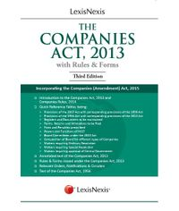 LexisNexis The Companies Act, 2013 (With Rules & Forms) Incorporating the Companies (Amendment) Act, 2015