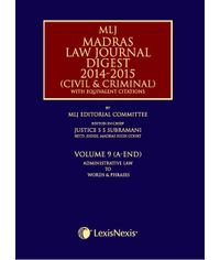 Madras Law Journal Digest 2014-2015 (Civil & Criminal)?with equivalent citations; Vol. 9