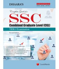 Dhaara's Complete Guide for SSC – Combined Graduate Level (CGL)– TIER-I Examination
