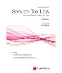 Handbook of Service Tax Law - As amended by the Finance Act 2016