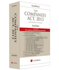 LexisNexis The Companies Act, 2013  (With Rules & Forms) Incorporating the Insolvency and Bankruptcy Code, 2016
