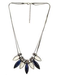 Metallic Cobalt Blue Necklace