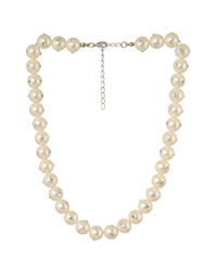 White Studded Pearl Necklace