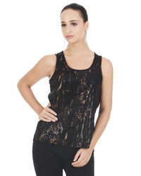 Old Gold Sequin Top