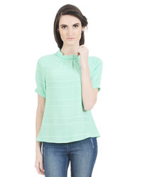 Mint Band-Neck Top