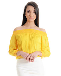 Sunshine Yellow Off the Shoulder Top