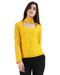 Sunshine Yellow Band-Neck Top