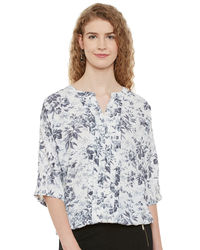 Ivory Floral Top